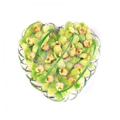 Corazón flor de orquídeas