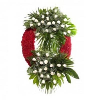 Corona clásica 36 rosas blancas