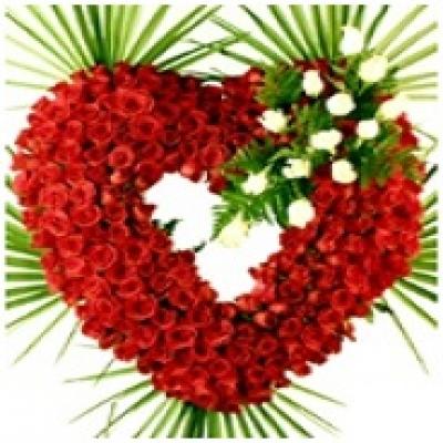 Corazón Premium rosas