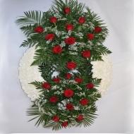 Corona Clavel y Rosas Rojas